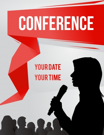 Conference tamplate illustration with space for your texts 矢量图像