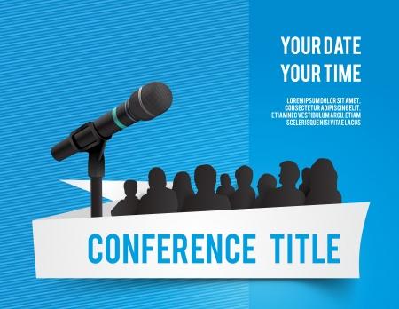 Conferencia ilustración tamplate con espacio para sus textos