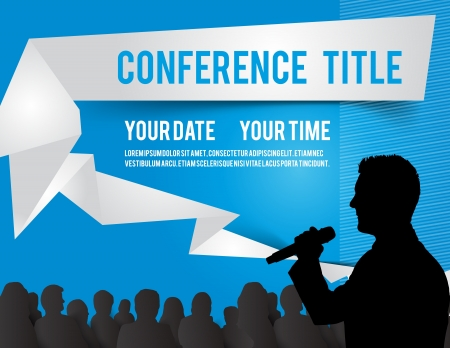 conference audience: Conference tamplate illustration with space for your texts Illustration