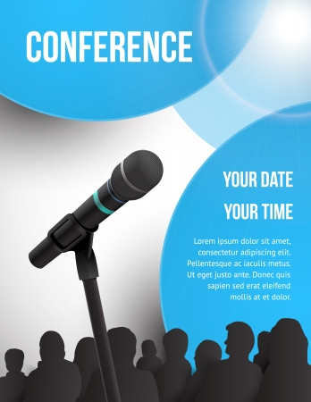 Conference tamplate illustration with space for your texts
