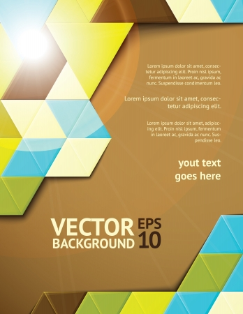 blank brochure: Modern abstract background illustration with design elements