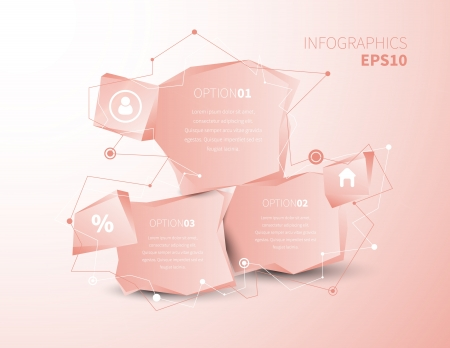 Business design illustration with space for text illustration