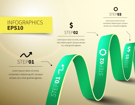 Business design vector illustration with space for text 矢量图像