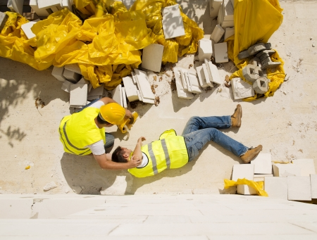 disability insurance: Construction worker has an accident while working on new house