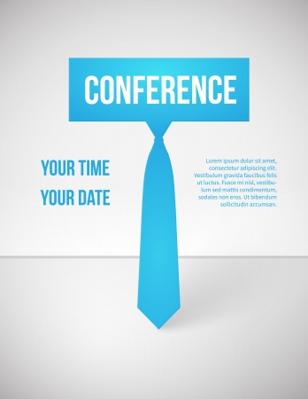 meeting element: Conference template illustration with space for your texts Stock Photo