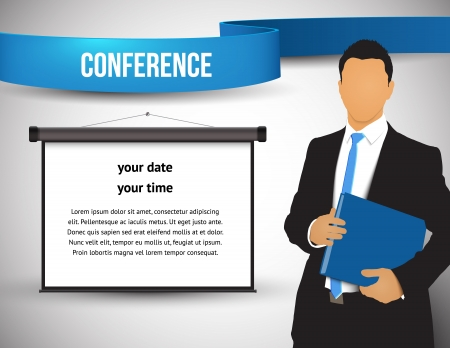corporate event: Conference template illustration with space for your texts Stock Photo