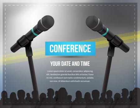 tarjeta de invitacion: Conferencia ilustración modelo con el espacio para sus textos Foto de archivo
