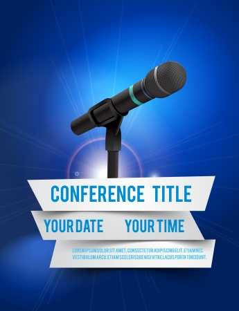 conference speaker: Conference template illustration with space for your texts Stock Photo