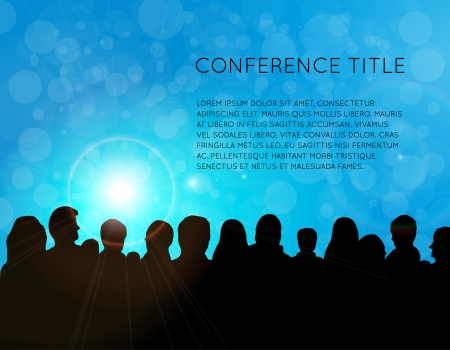 conference audience: Conference template illustration with space for your texts Stock Photo
