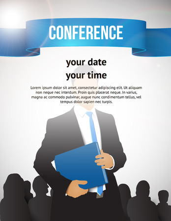 public folder: Conference template illustration with space for your texts Illustration