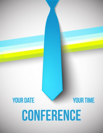 corporate event: Conference template illustration with space for your texts Illustration