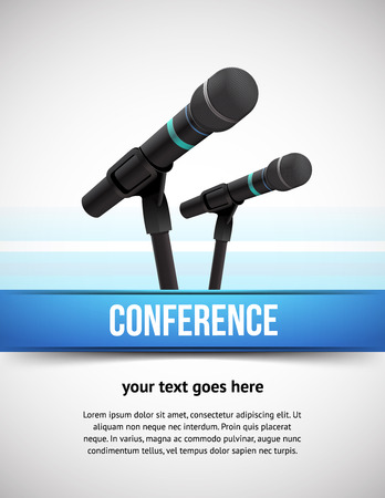 conference audience: Conference template illustration with space for your texts Illustration