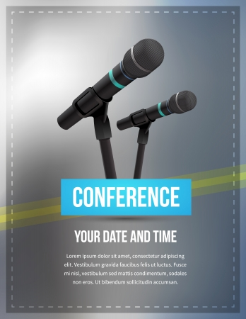 Conference template illustration with space for your texts 矢量图像