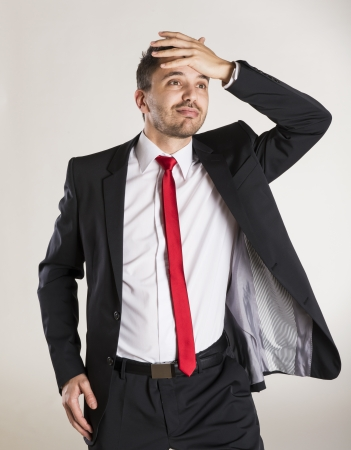 Successful business man is posing in studio Stock Photo - 22567543