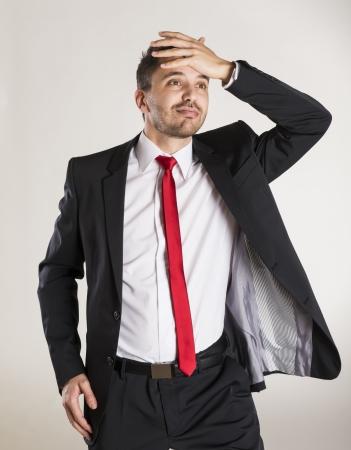 Successful business man is posing in studio Stock Photo - 22567543