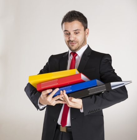Successful business man is posing in studio Stock Photo - 22564910