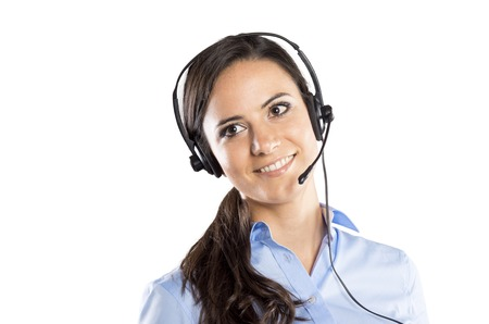 Beautiful call center young woman ready for support and contact Stock Photo - 22662132