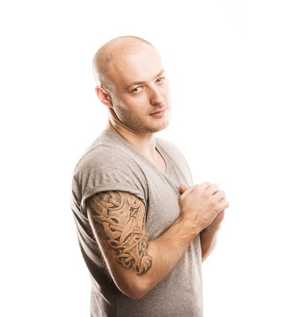Man with tattoo photo
