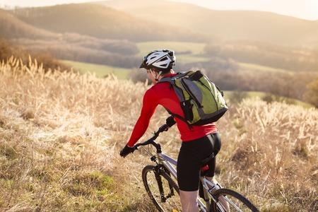 bike trail: Mountain biker