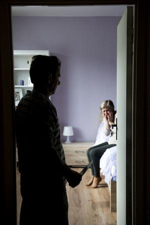domestic violence: violence concept
