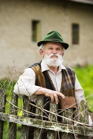 old farmer: Senior man Stock Photo