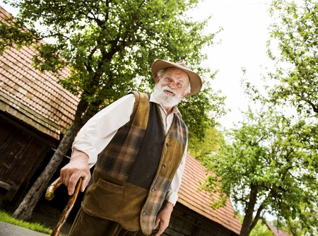 gaffer: Senior man Stock Photo
