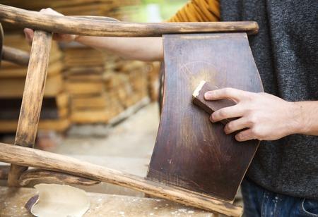 modernize: Chair renovation Stock Photo