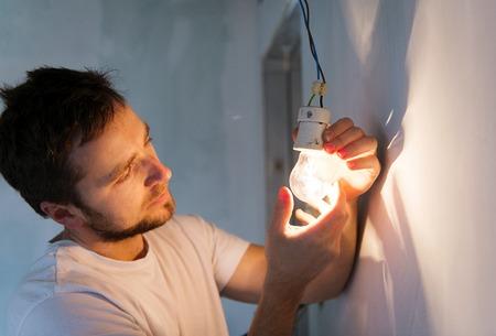 Electrician working Stock fotó
