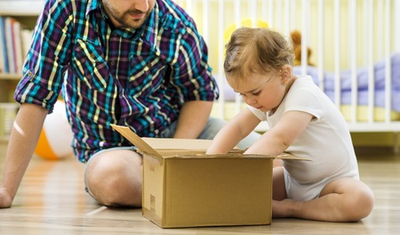box love: Father and child