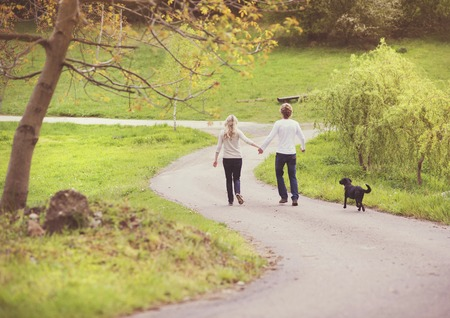 dog park: Couple in love