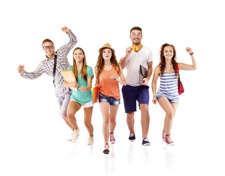 alumnos estudiando: J�venes amigos