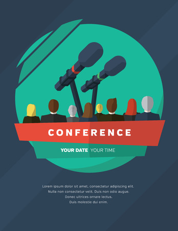 Conference template illustration with space for your texts Stock Illustratie