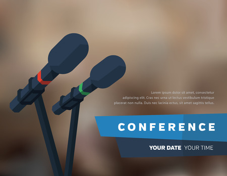 conference speaker: Conference template illustration with space for your texts Illustration