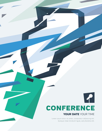 training room: Conference template illustration with space for your texts Stock Photo