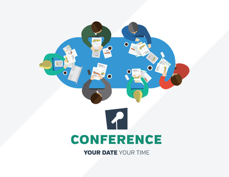 Conference template illustration with space for your texts Stock Photo