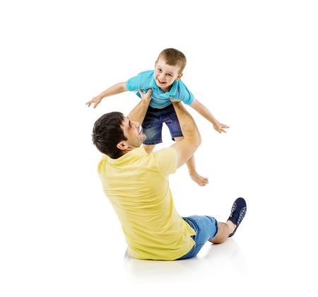 bonhomme blanc: P�re et fils