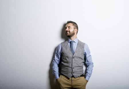 busy beard: Young manager