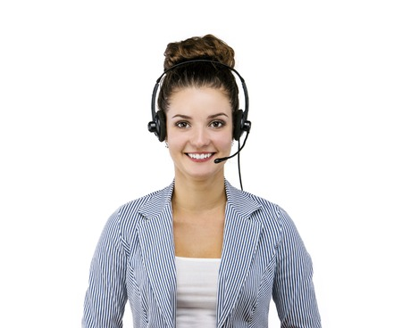 call center agent: Beautiful girl
