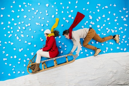 trineo: Humor Navidad