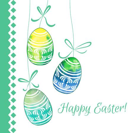 vector eggs: Hand drawn patterned Easter eggs. Vector illustration.