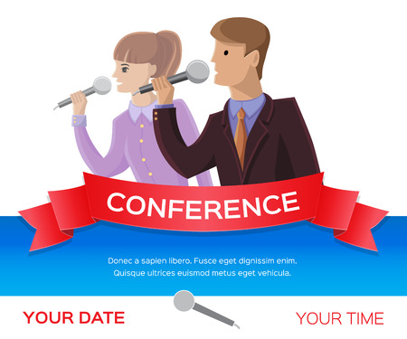 lecture hall: Conference template illustration with space for your texts Stock Photo