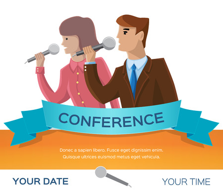 Conference template illustration with space for your texts Vector
