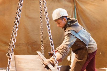 steel industry: Young welder