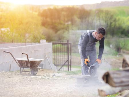 cemento: Hombre de trabajo