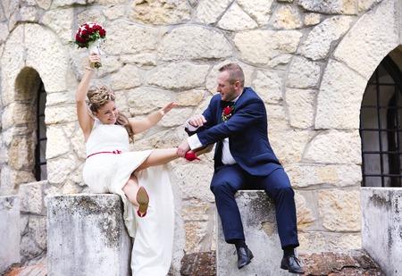 結婚式: 新郎新婦