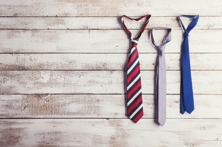 Three ties Banque d'images