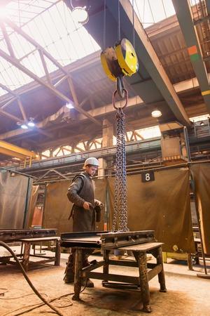 steel workers: Young welder