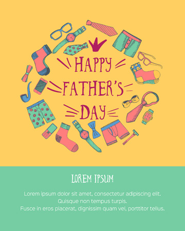 Happy fathers day greeting card with space for text vector happy fathers day greeting card with space for text vector illustration stock illustration m4hsunfo