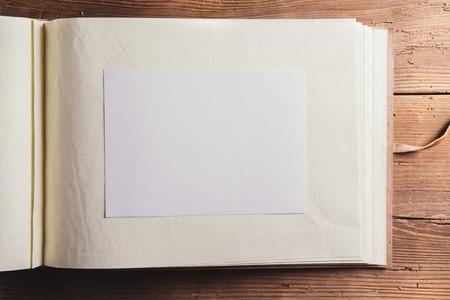 photo album: Empty photo album Stock Photo
