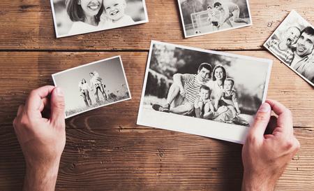 vintage photo: Family photos Stock Photo